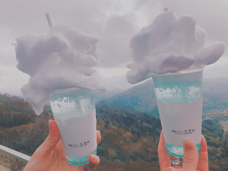 雲海を見ながら飲む、インスタ映えな雲海風ソーダ