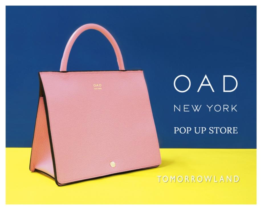 今注目のバッグブランド『OAD』が『トゥモローランド』でポップアップを開催!_1