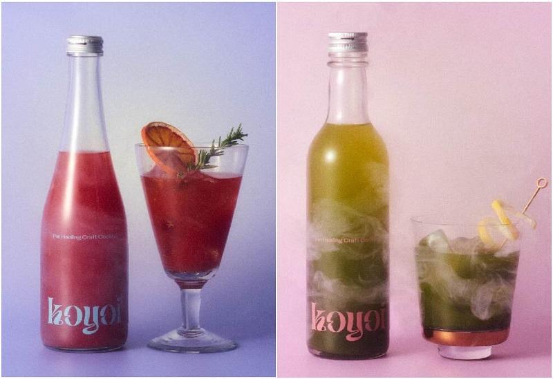 おしゃれすぎる低アルコールクラフトカクテル『koyoi』。「Sunset orange」と「Wabicha」のイメージビジュアル