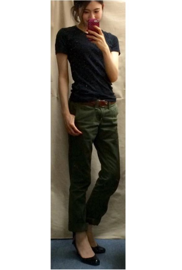 Coordinate...優秀☆ユニクロのスーピマコットンTシャツ_2