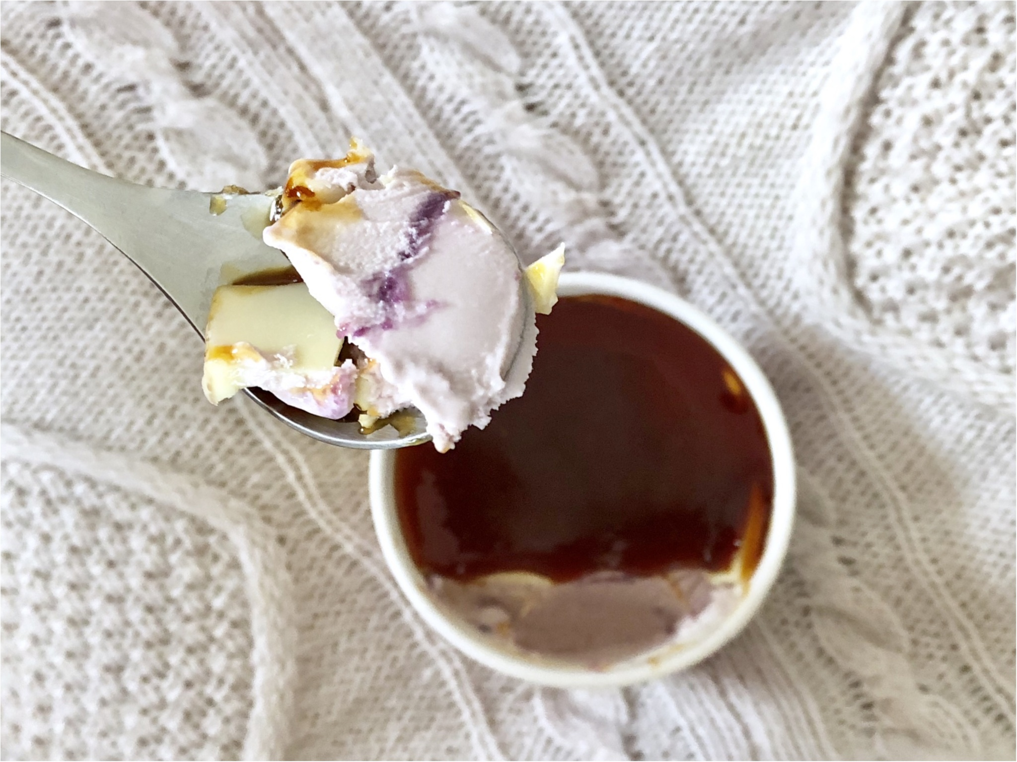 人気すぎて早くもラス1?【ハーゲンダッツ】ローソン限定《紫イモのクレームブリュレ》が衝撃の美味しさ❤️_3