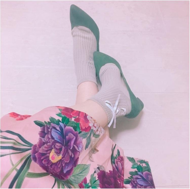 《いま、ザラ(ZARA)女が増えているっ♡!》今年初の春物は売り切れ続出のお花咲きめくミモレスカート♡!_5