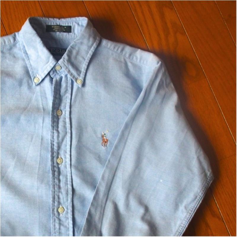 愛用歴10年!ひとつ持っておくとオールシーズン使えるラルフローレンのシャツ(412あみ)_4