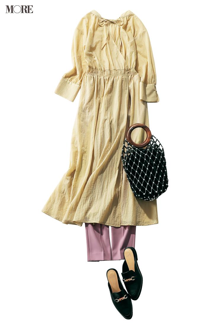 カラーコーデで恋愛モードを高めて。パンツ派巴瑞季・スカート派りな「秋ボトムに何合わせてく?」着回し20日目_2
