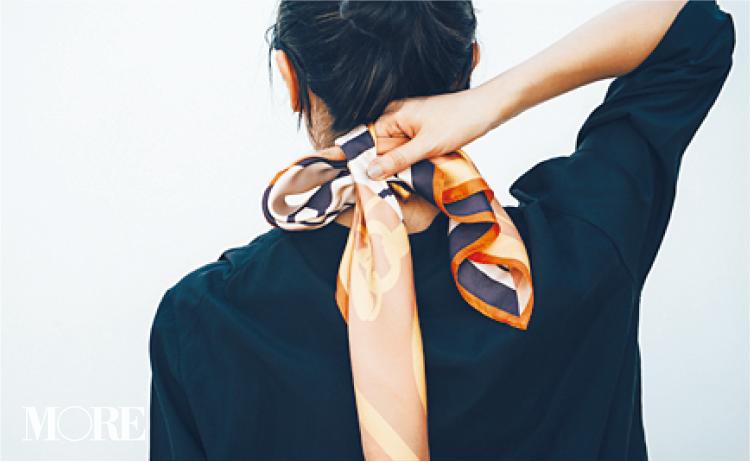 スカーフで意外と簡単にできるんです。恋に落ちそな後ろ姿❤︎ 冬コーデの華やかさも3割増! 記事Photo Gallery_1_5