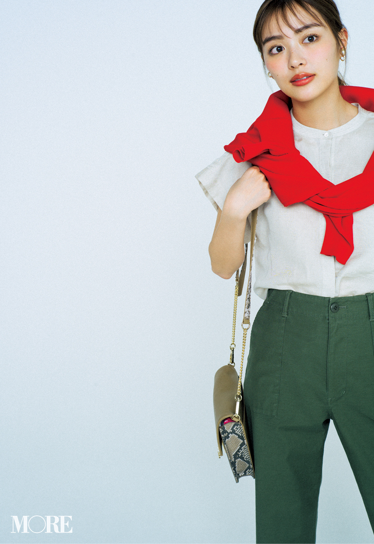 カジュアル服でもきちんと見えるコツ、知ってる? 答えは「赤をさす」、のたったひと手間!記事Photo Gallery_1_1
