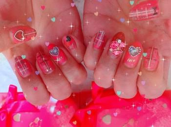 Valentine❤︎Nail〜*いよいよもうすぐ本番☆ネイルもバレンタインに!!