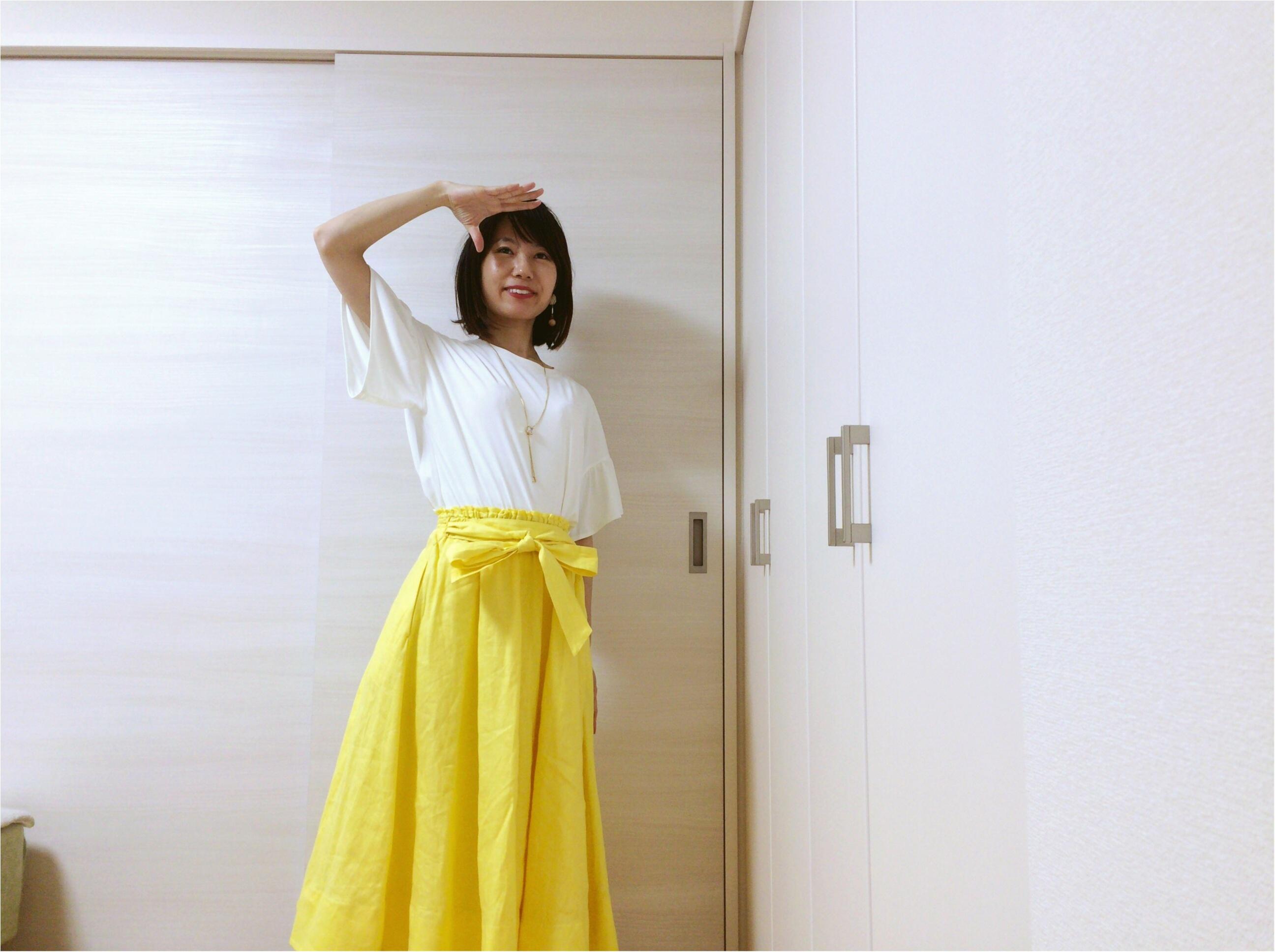 即使える【夏コーデ3選】流行!《イエロースカート》カジュアルからオフィス・休日まで簡単着回し♡_3