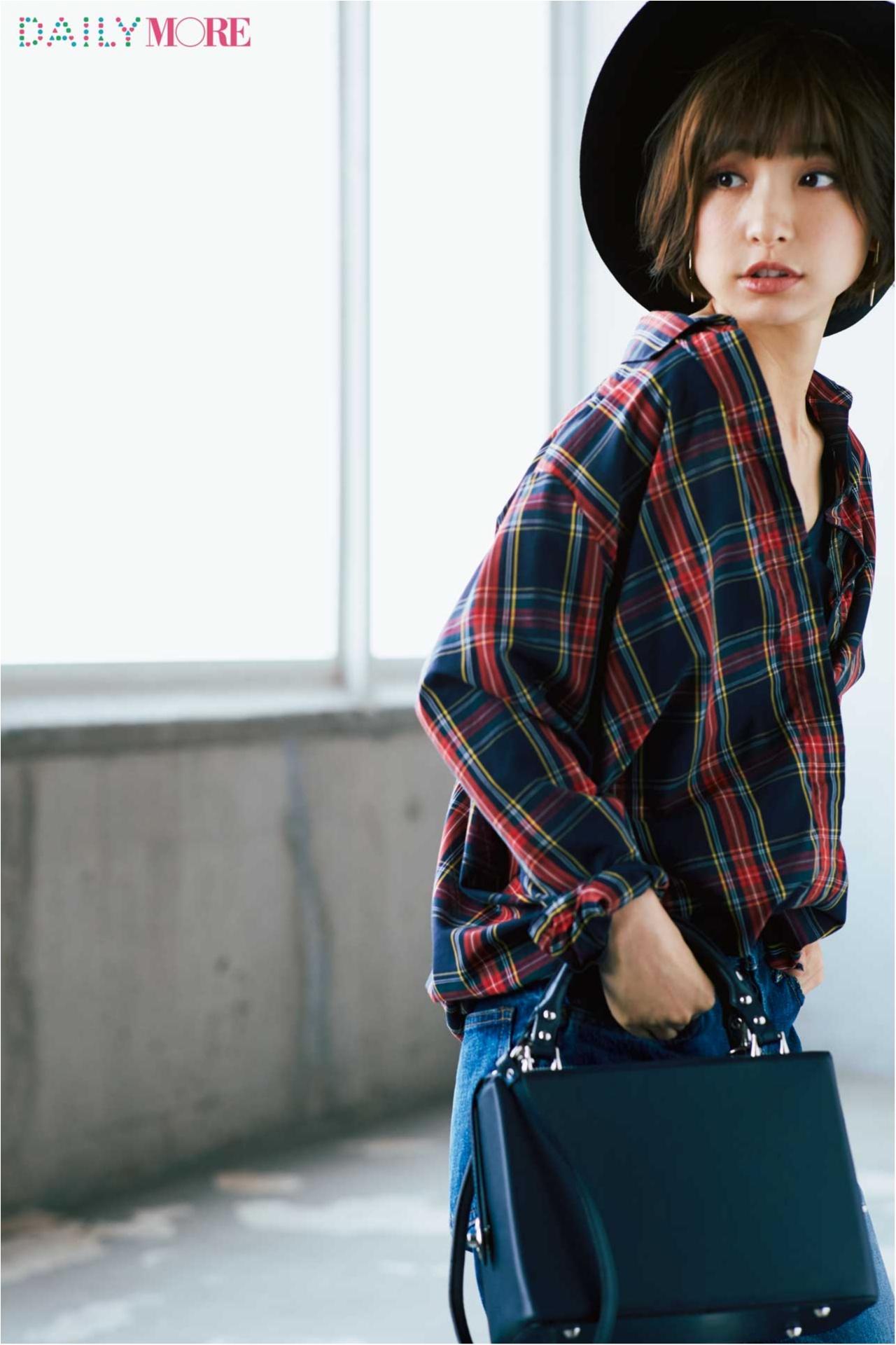 まだ暑いけれどおしゃれは秋にシフト、そんな今、麻里子の答えは「涼しい秋服」×「デニム」でした。_1