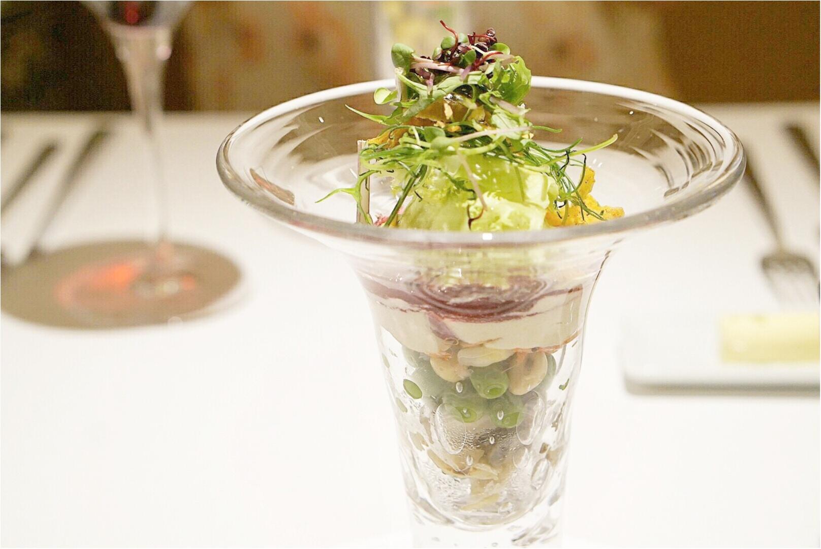 大人気の野菜パフェ&話題の演出デザートも!あのモダンフレンチでお祝いランチをしてきました♡_3