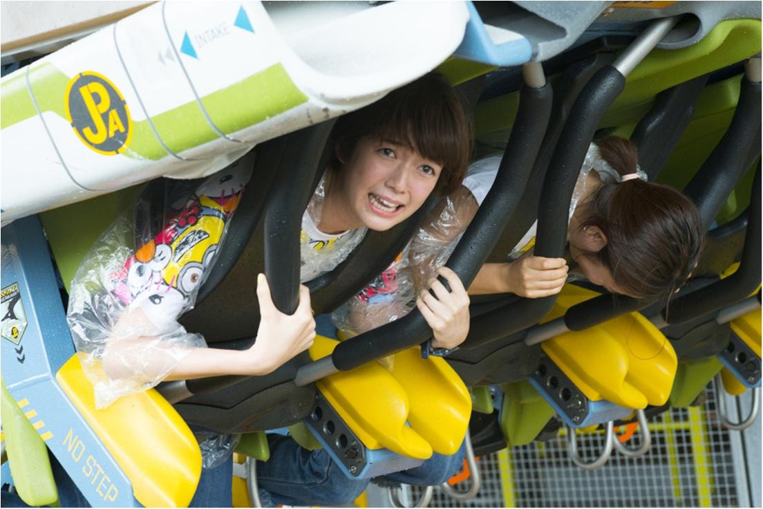 栞里、ユニバーサル・スタジオ・ジャパンで空を飛ぶ!【連載オフショット】_2