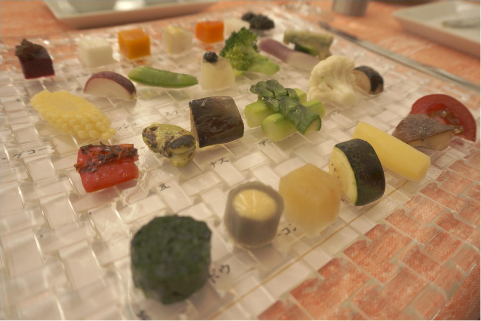 季節の有機野菜28~30種の盛り合わせがすごい‼️GINZA chez tomoの贅沢ランチコース✨_5