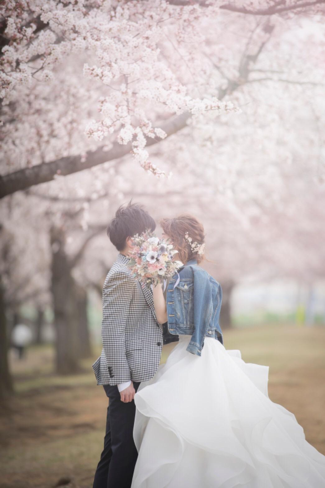 【桜ウェディング】桜満開の素敵なウェディングフォトを撮って頂きました♡_4