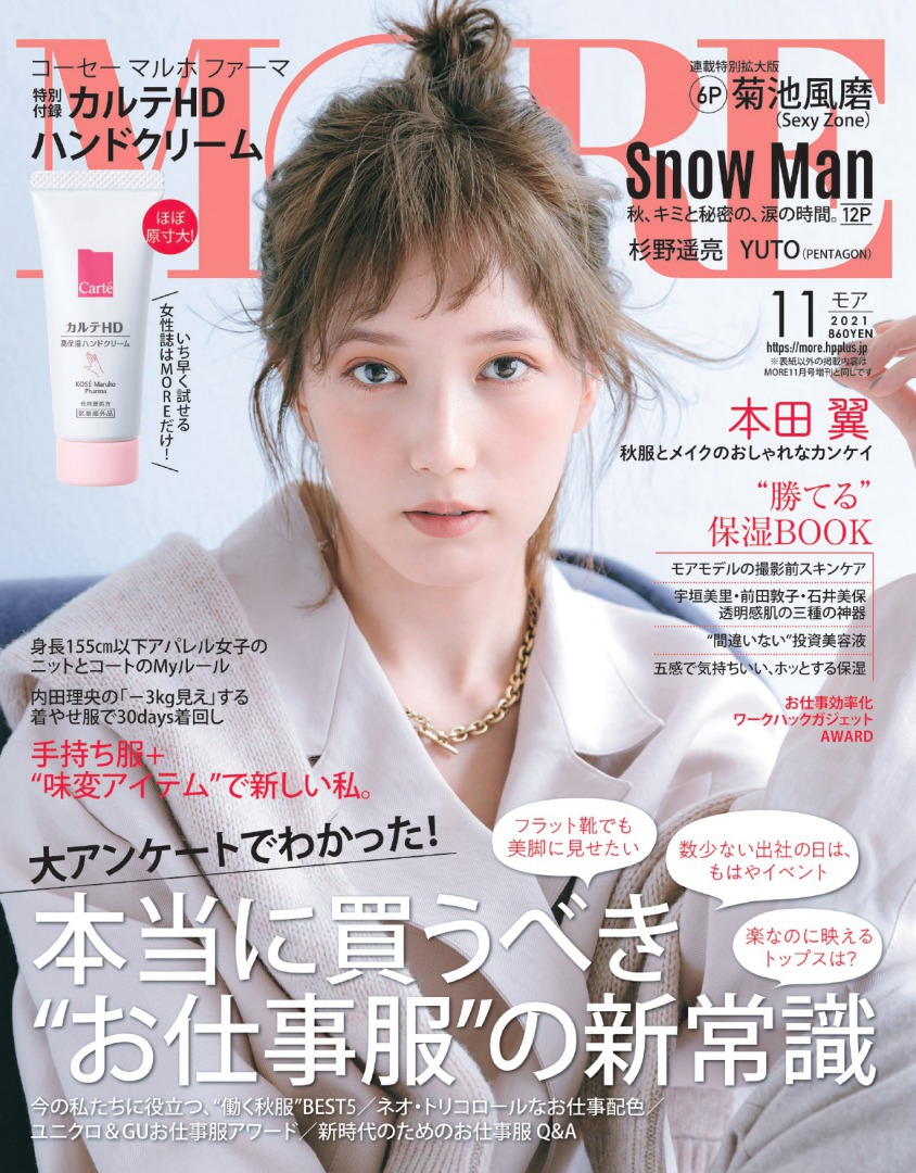MORE11月号表紙の本田翼