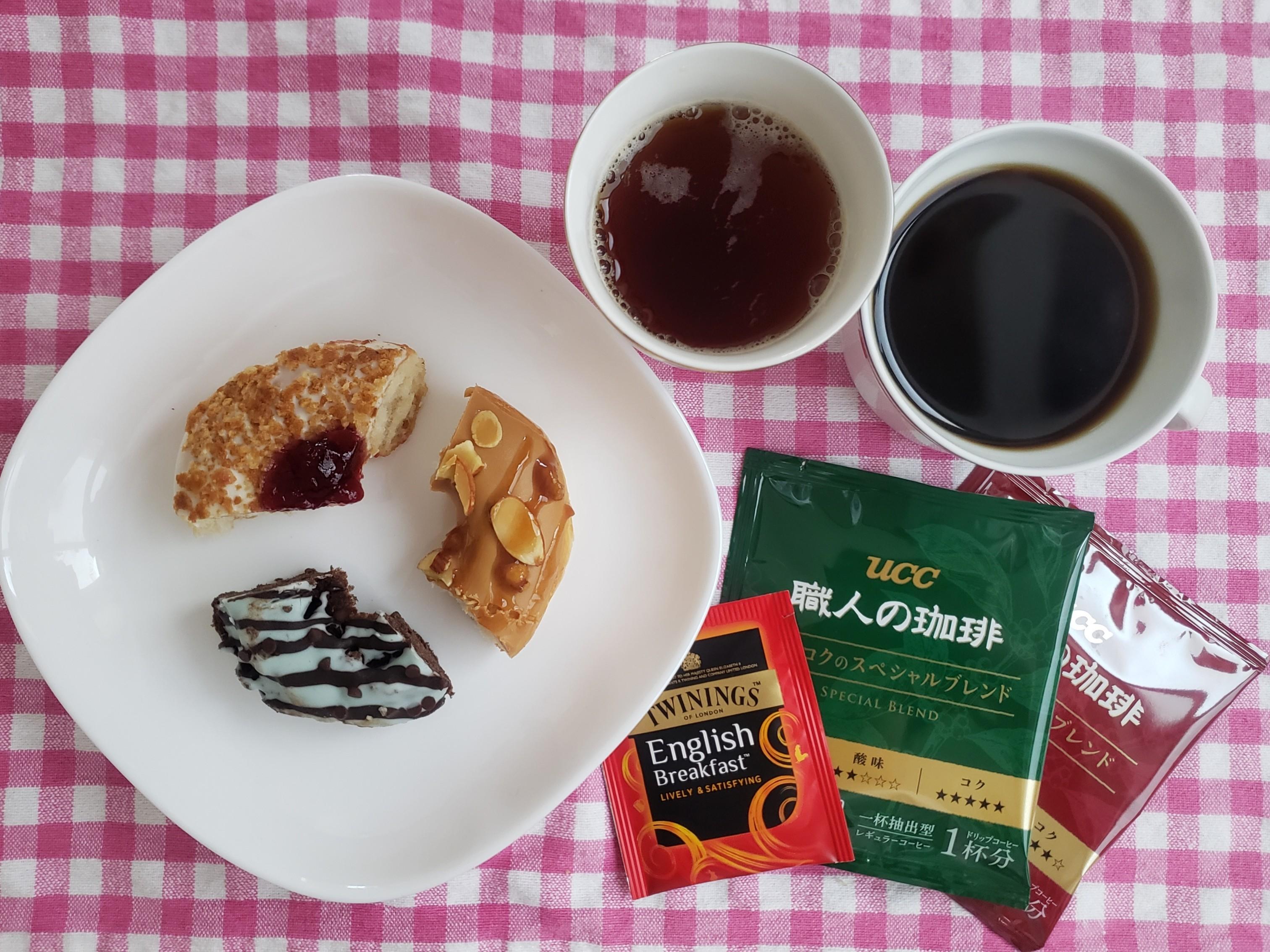【クリスピー・クリーム・ドーナツ】期間限定3種をお手軽☆コーヒー・紅茶でフードペアリング♡_1