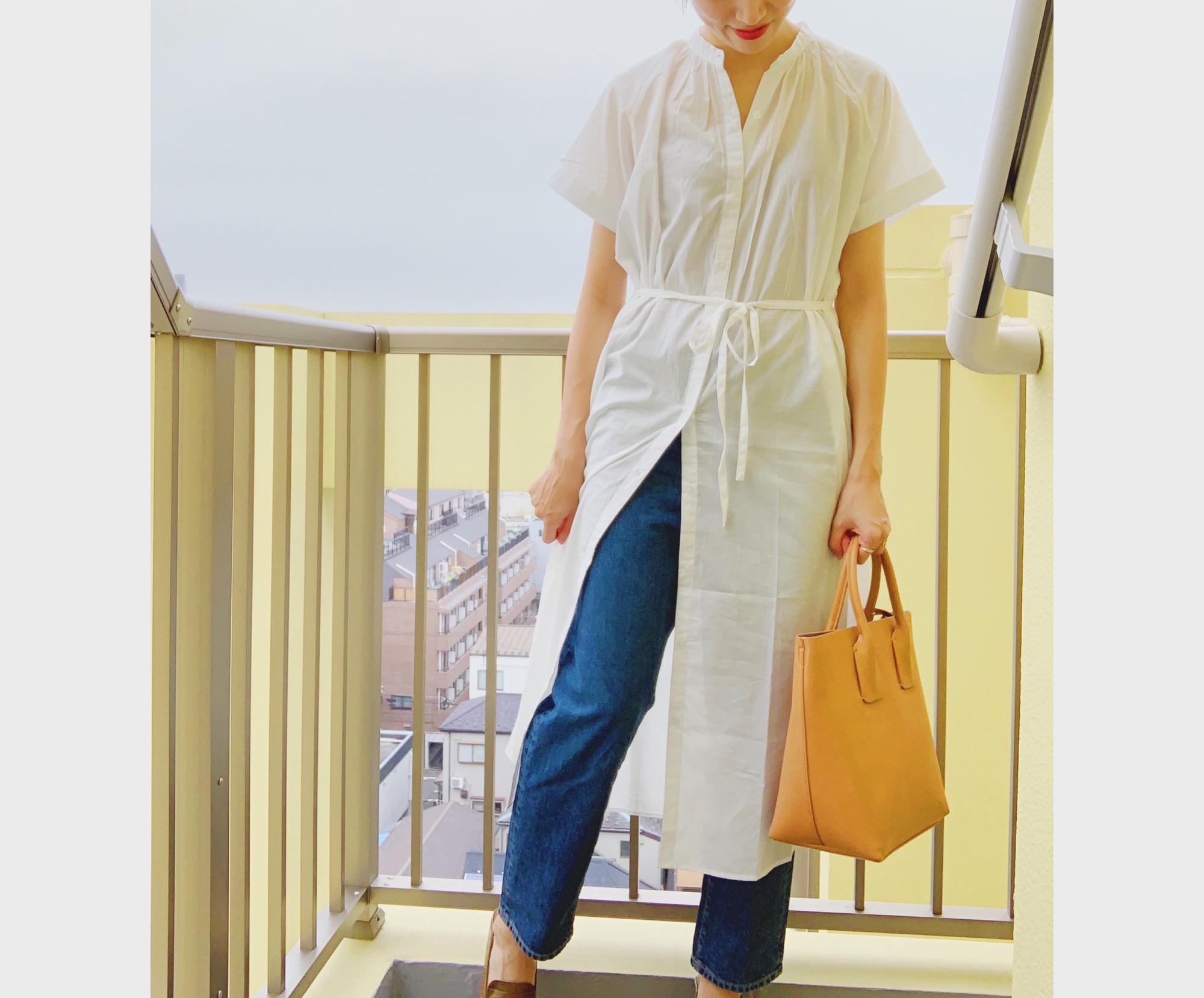 《あの大人気ワンピに半袖が登場❤️》¥1,000台で買える【GU】バンドカラーギャザーワンピース☻_3