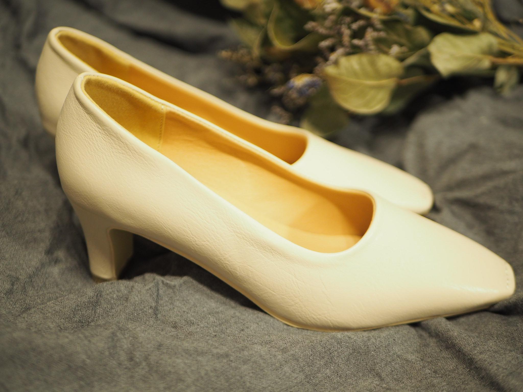 【プチプラ春靴】ホワイトカラーの《スクエアトゥシューズ》❃❃❃_3