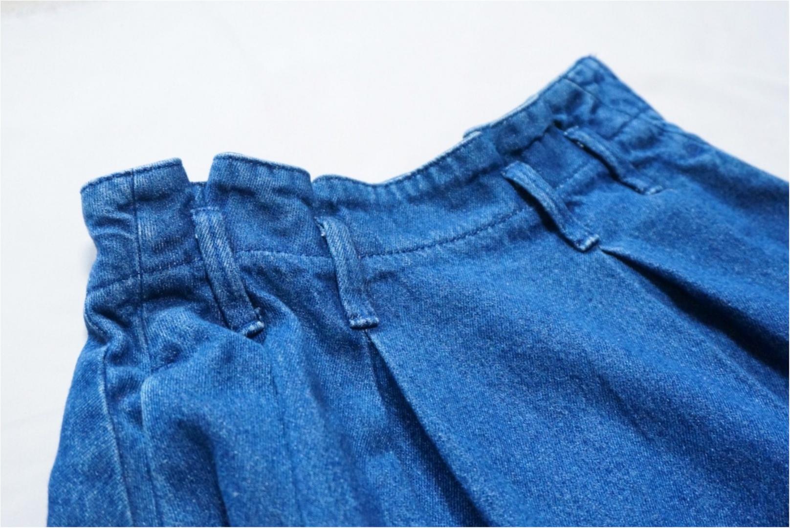 《カジュアルなのに可愛く決まる‼︎》春にしたいデニムコーデは【GU】で決まり♪大人可愛い『デニムフレアスカート』がめっちゃ使える♡_2