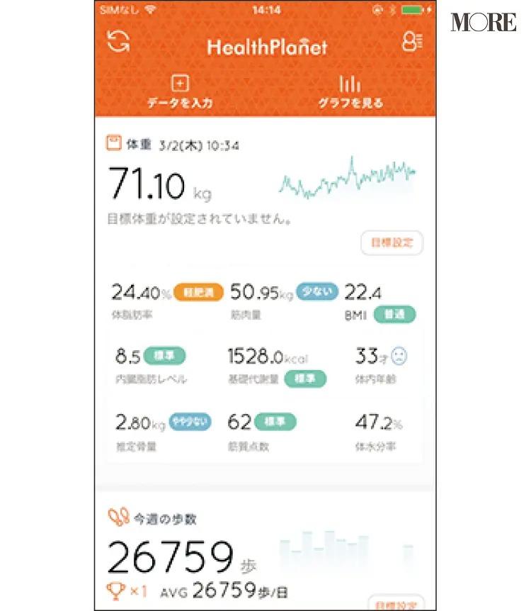 鷲見玲奈さんが使用しているアプリの画面