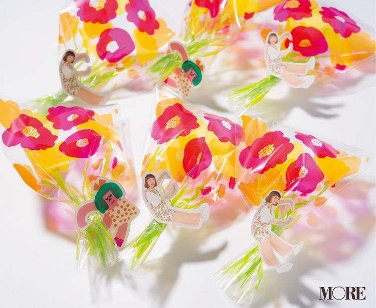 花束をモチーフにしたラッピングアイテムに胸きゅん♡ AIUEO『clear pack はなたばS』【こちら、三戸文房具堂。】_2