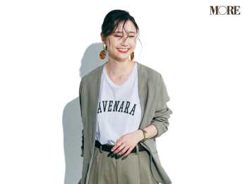 【今日のコーデ】<鈴木友菜>週末会議の日のジャケットコーデは+白Tシャツで大人っぽく見せるのが正解!