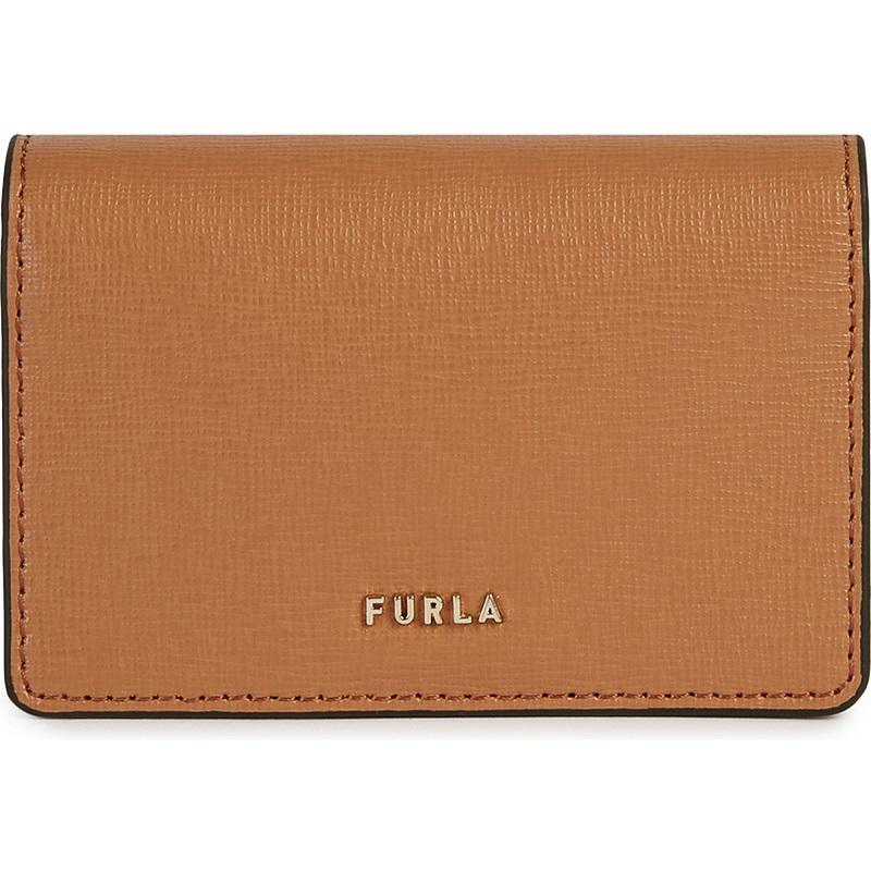 フルラ、ベージュのカードケース