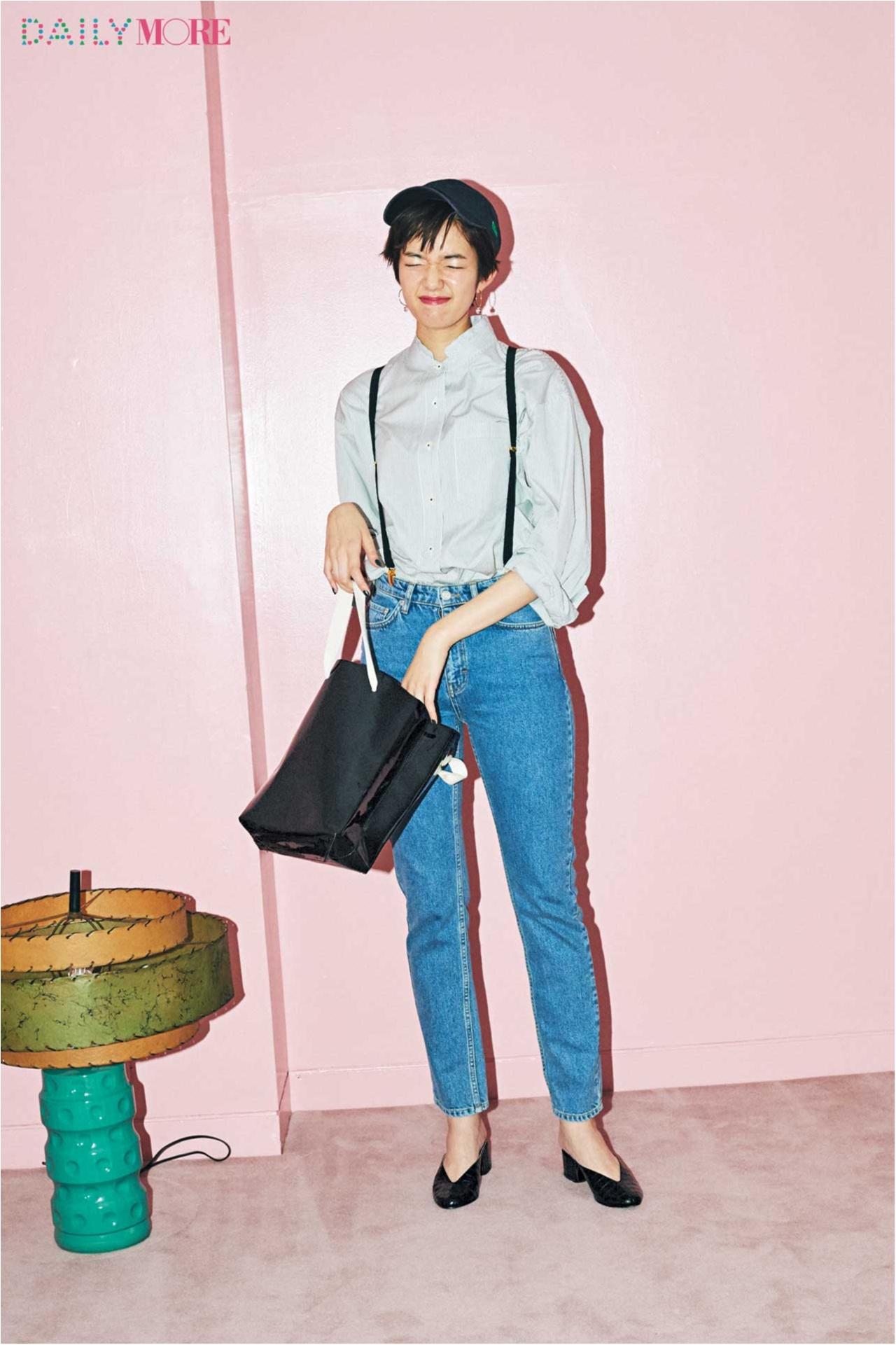 【今日のコーデ/佐藤栞里】ボーイッシュなシャツ×デニムコーデに、今どきレディなミュールで洗練感を。_1