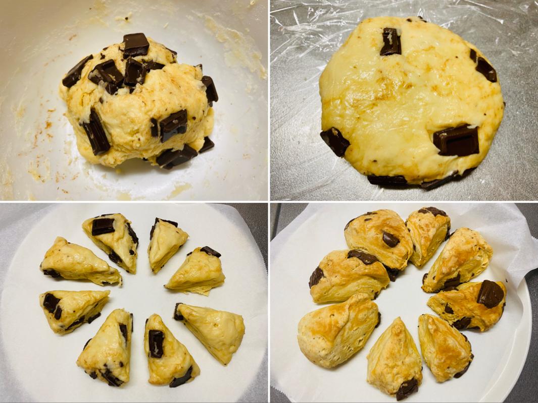 【おうちカフェ】超簡単なのに絶品★ホットケーキミックスでつくる人気レシピを実践♡-チョコチャンクスコーン-_3