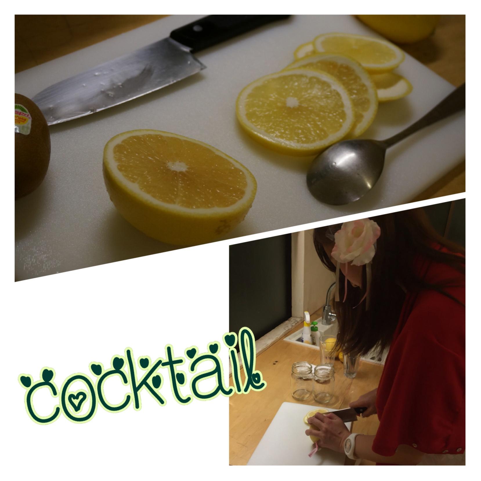 レンタルスペース【one kitchen】で夜ピクニック⁉️ルジェフルーツジャーでお洒落カクテルparty( ´ ▽ ` )ノ_3