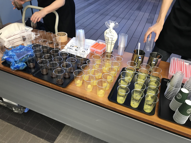 【本日発売! TULLY'S COFFEE 新作 を徹底解説!】トロピカルドリームスワークル と瀬戸内 ナタデココ瀬戸内レモンスワークル を飲みてみた【モアハピ部インフルエンサーセミナー2019】_2