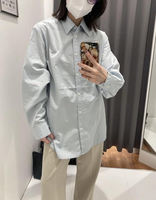 コットンロングシャツ