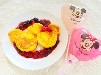 【ディズニーランド】のフレンチトースト♡公式レシピで作ってみました!