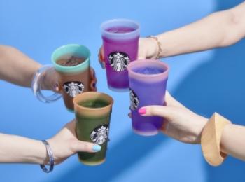 【スタバ新作 グッズ】オンライン限定、クリアカラーのカップセットが可愛すぎる!