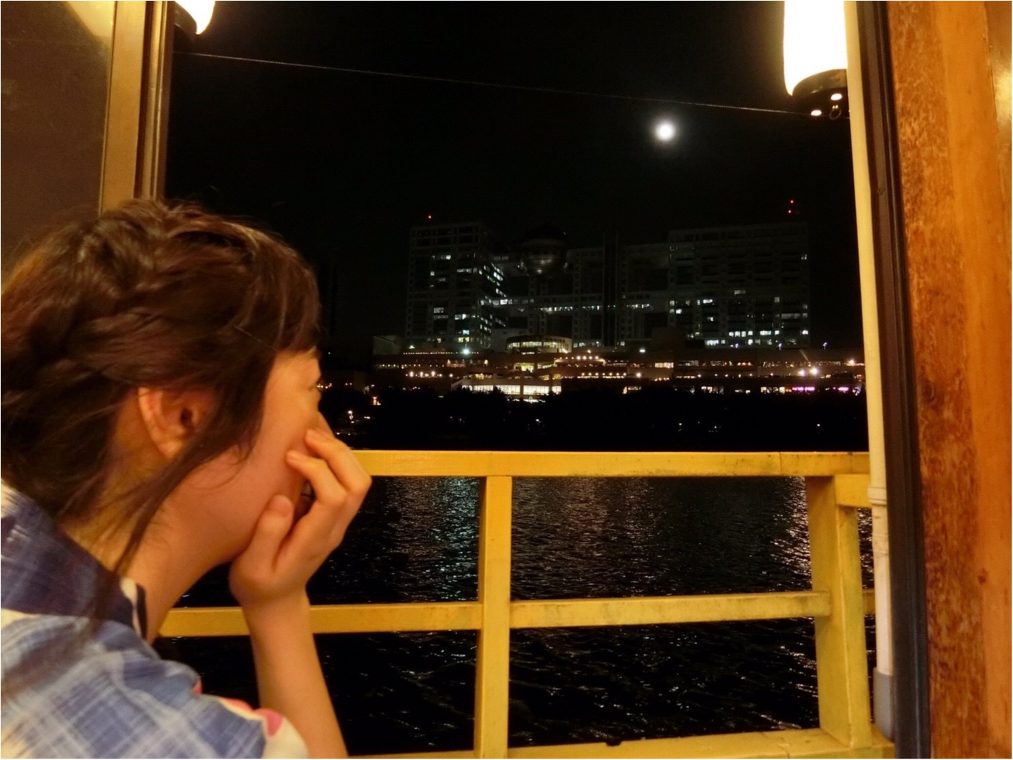 【浴衣で屋形船】お台場の夜景と海を眺めながら♡もんじゃ食べ放題!_6
