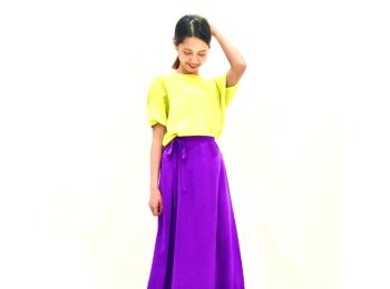 大人っぽ紫が可愛すぎ♡甘すぎない初夏コーデ4選