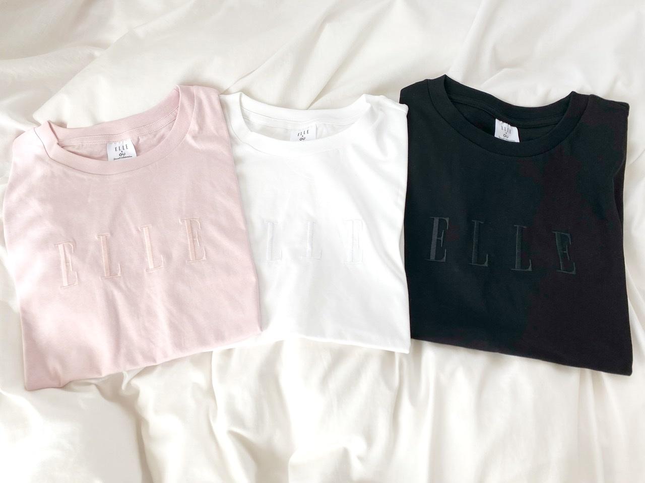 【GU×ELLEがコラボ!】思わず3色買い♡SNSでも話題のプチプラTシャツをGET!_2
