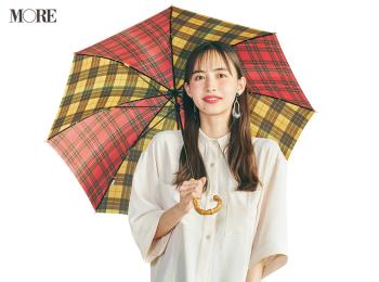 可愛い傘とECブランド服で気分良く! 井桁弘恵の雨の日コーデが参考になる着回し11日目