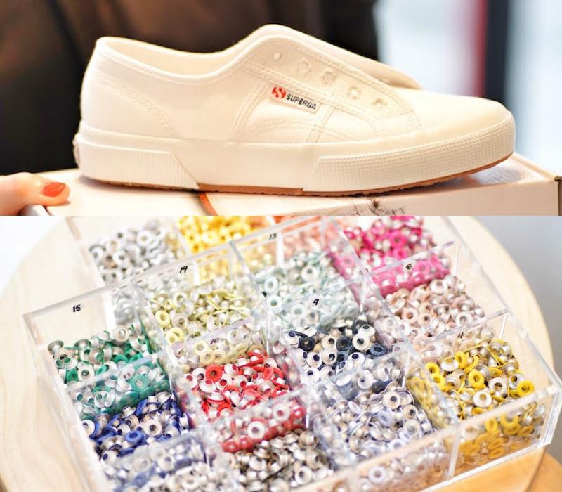 『スペルガ』の白スニーカーを自分流に!『オデット エ オディール』店舗でカスタマイズイベント開催☆_1