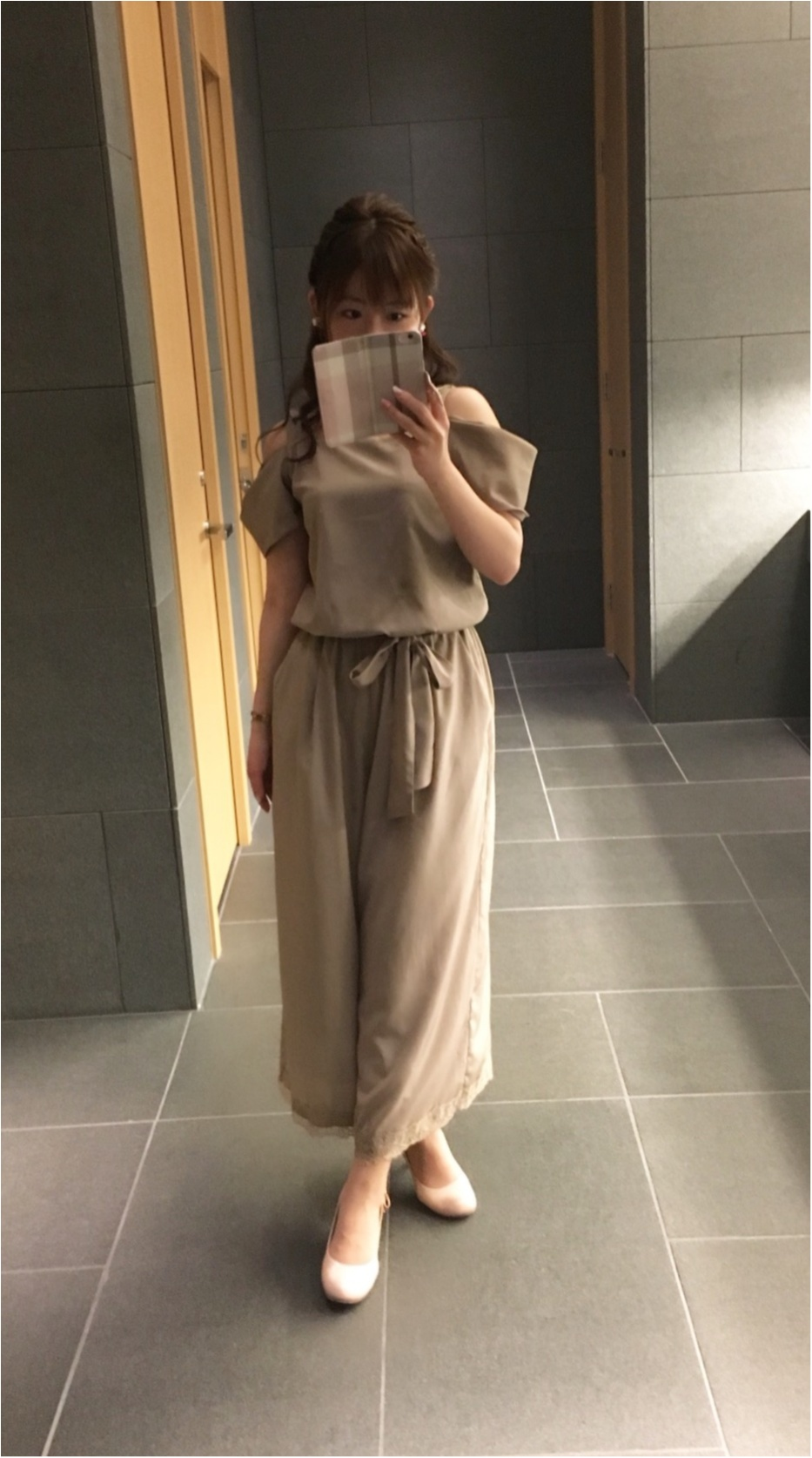 オフショルを着ても品をまとえるコツを考える❤︎Rirandtureのオールインワンで憧れこじはるコーデ♡♡_2