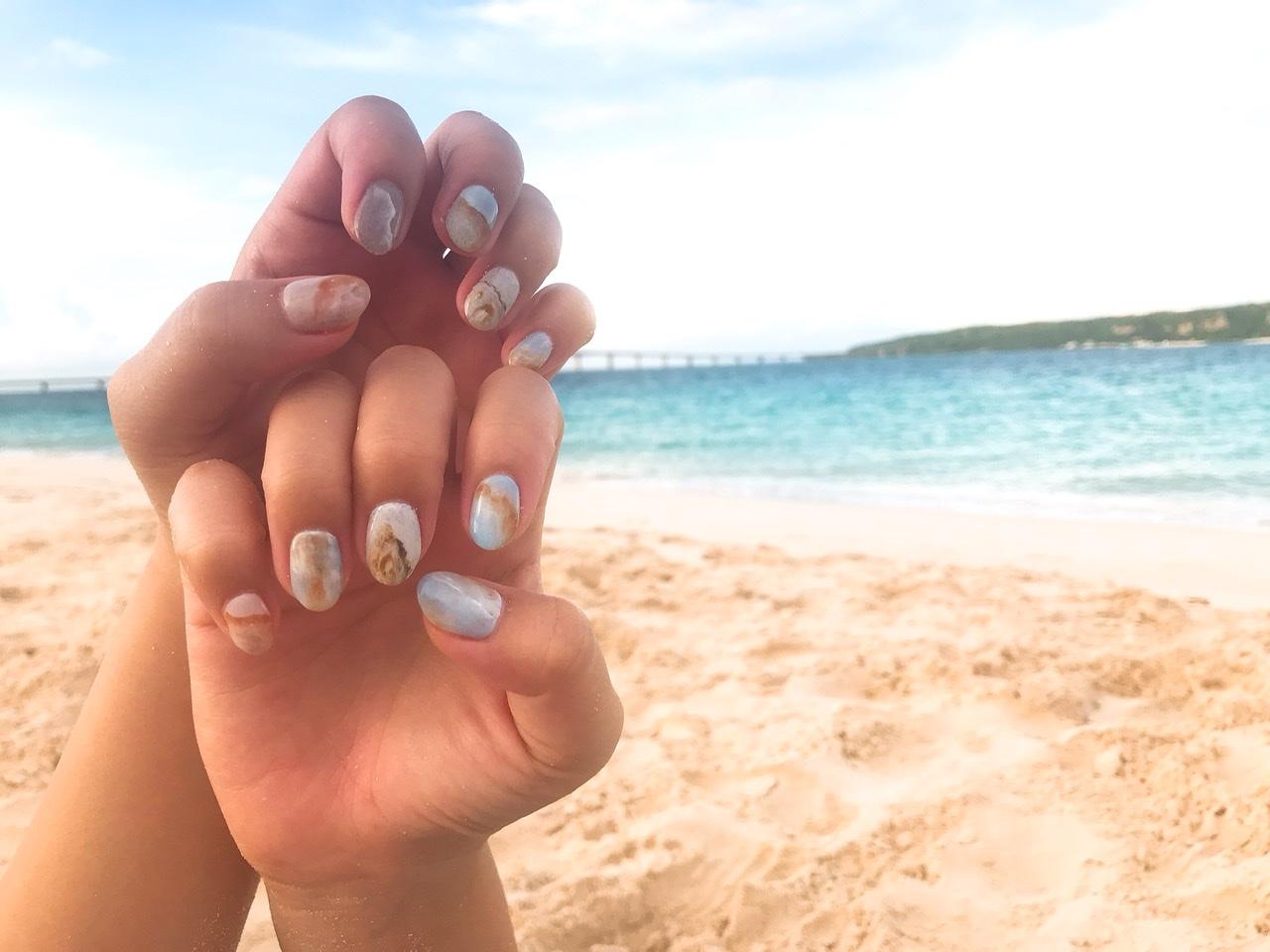 【夏ネイル・マニキュア】ビーチで映える夏にぴったり砂浜ネイル_1