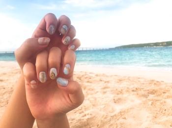 【夏ネイル・マニキュア】ビーチで映える夏にぴったり砂浜ネイル