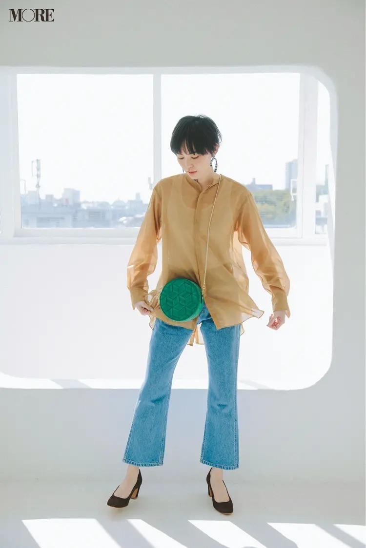 【2020夏コーデ】シアー素材で透け感を添える
