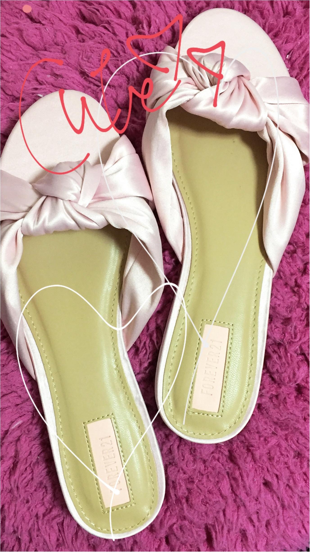 【Shopping】Forever21♥ ピンク×リボンのぺたんこサンダルがこの値段♡!_1