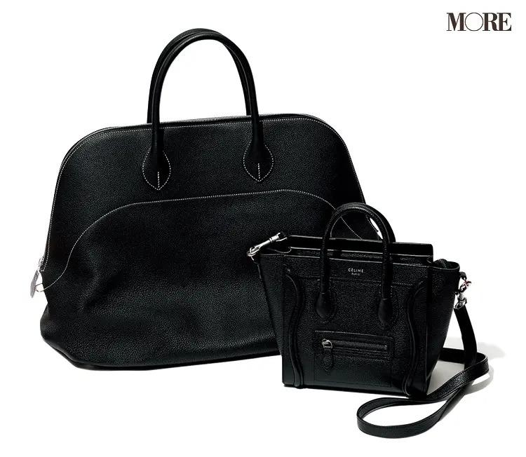 飯豊まりえ愛用のセリーヌのバッグとエルメスのバッグ