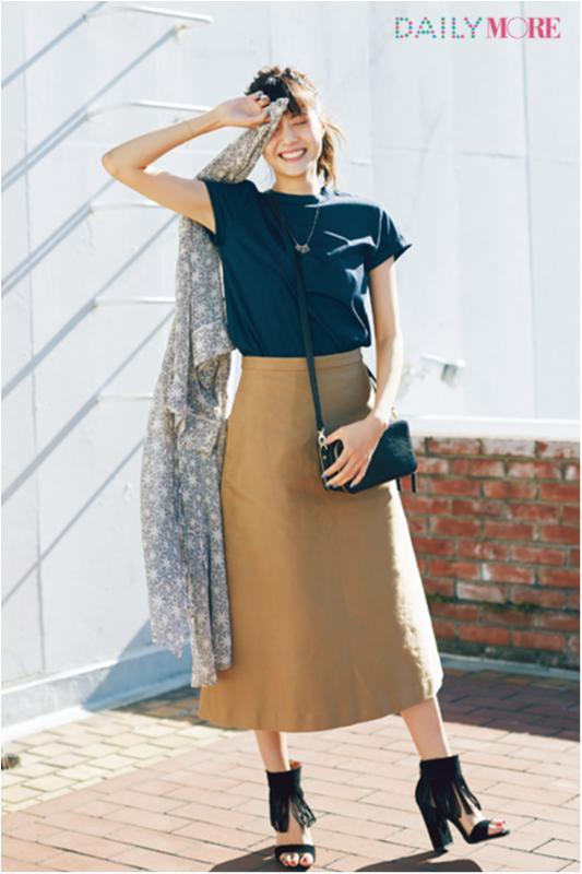 【今日のコーデ/佐藤ありさ】スカートをはきたい金曜日はAライン&長め丈で鮮度アップ!_1