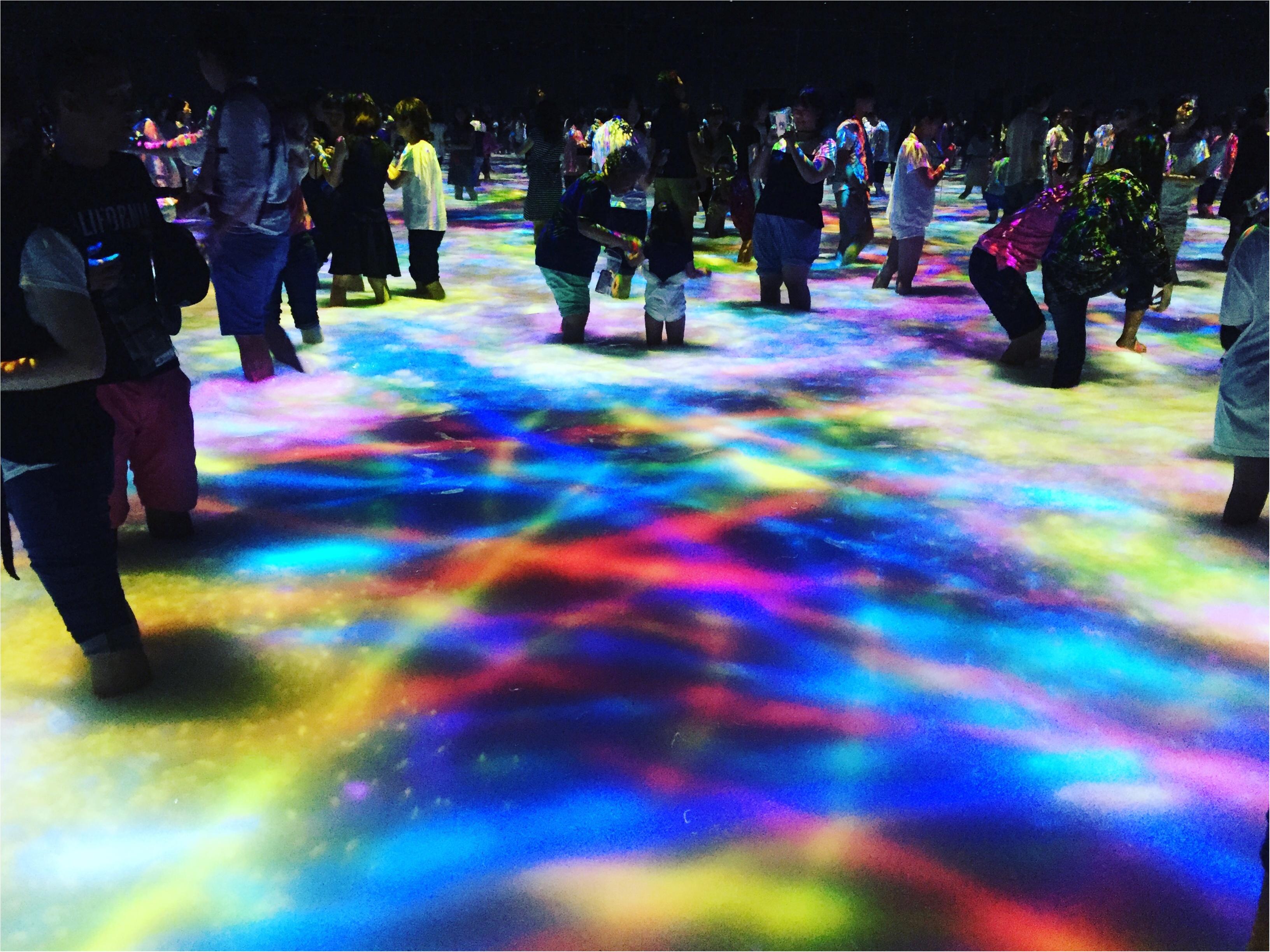 【夏のお出掛けスポット/DMM.プラネッツ Art by teamLab】水に浸かったり仰向けになったりして鑑賞する『デジタルアート』が幻想的✨8/31まで!お台場に急げ♩≪samenyan≫_16