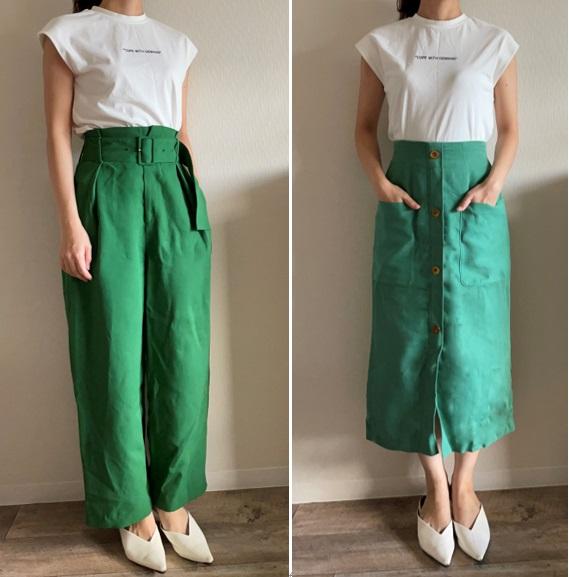 マッチングアプリのNGアイテム、Okアイテム。ワイドパンツとタイトスカート
