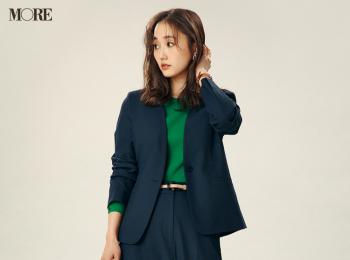【今日のコーデ】<鈴木友菜>ジャケット&パンツの正統派セットアップで週末を乗り切る♪