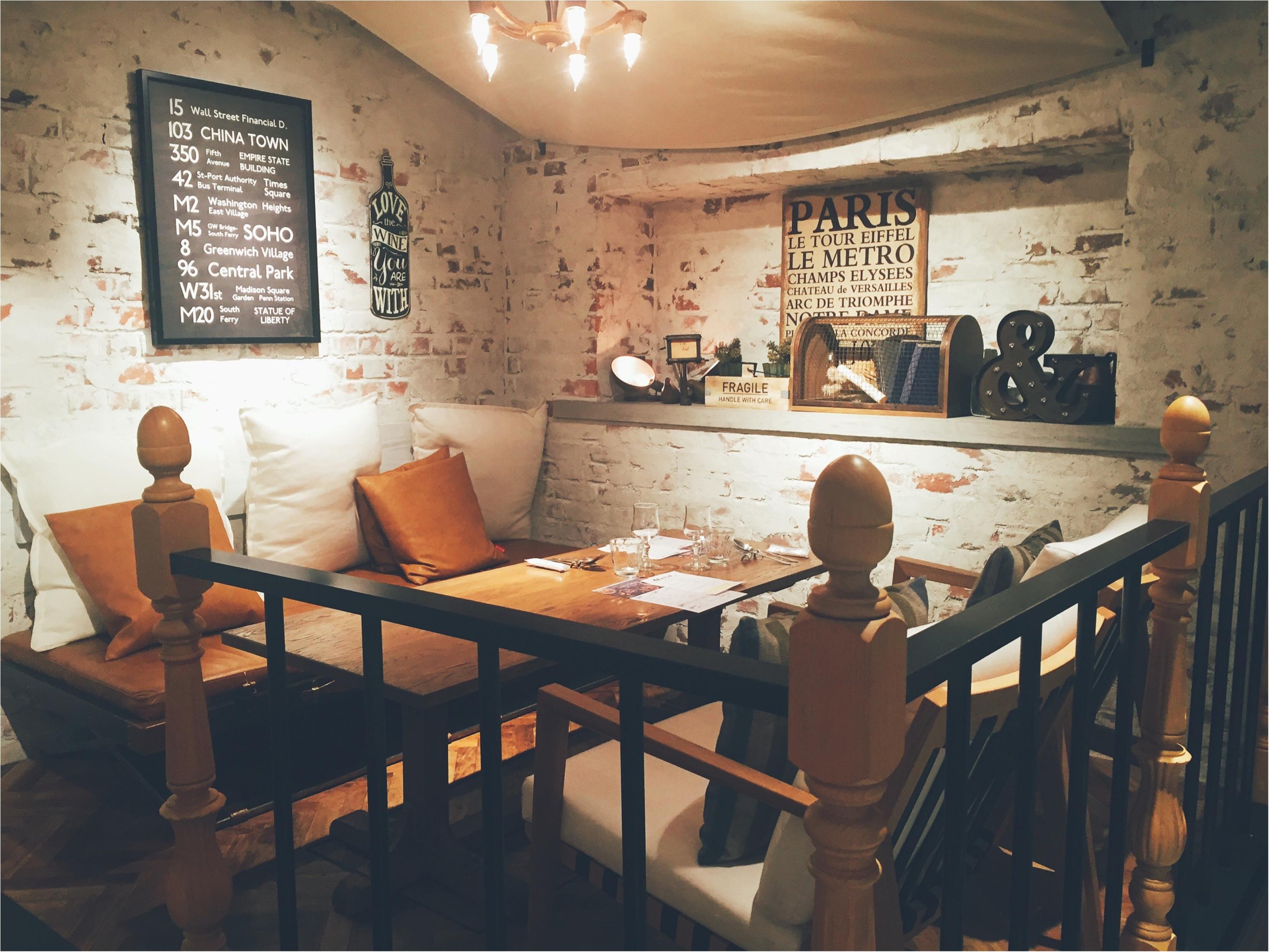 【恵比寿ランチ】アンティーク調の店内がお洒落!イタリアンとワインのお店♡_3