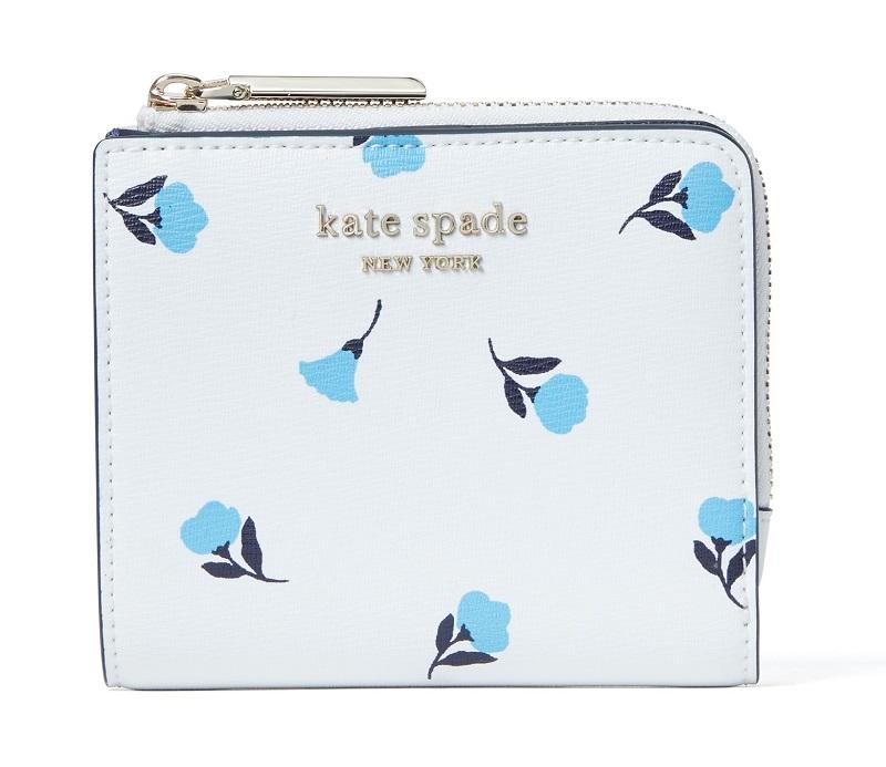ケイトスペードの花柄財布